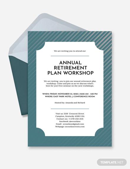 22 Retirement Invitation Designs Psd Vector Eps Jpg