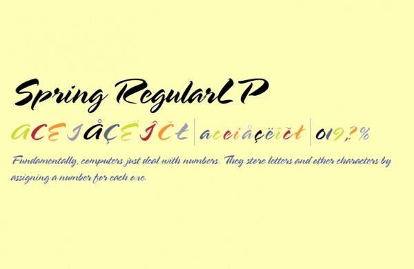 Creative Spring Cursive Font
