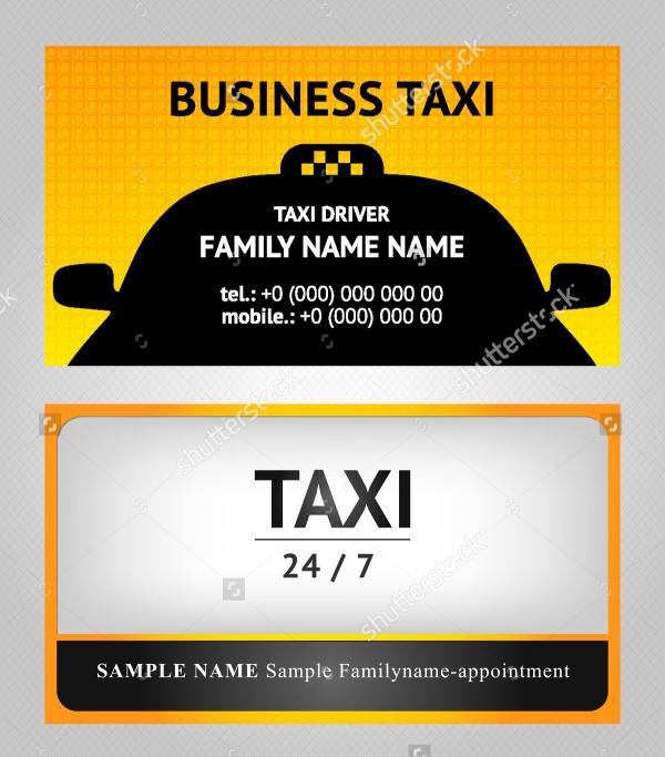 Creative Taxi Card Design