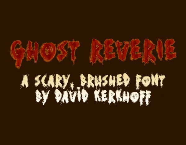 Creepy splattered horror font