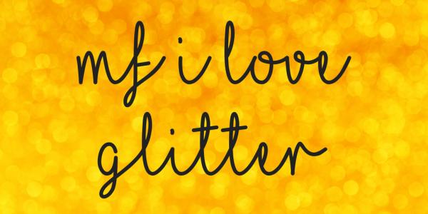 Cursive Glitter Wedding Font