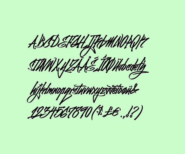 Curved Graffiti Font Generator