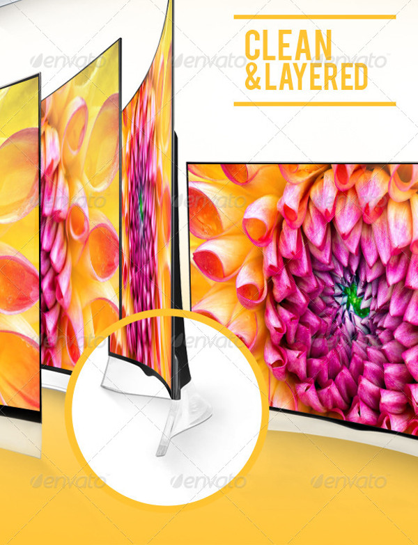 Curved TV Mockups Pack