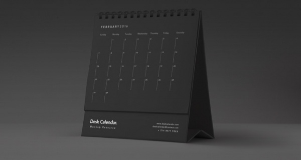 customizable desk calendar mockup