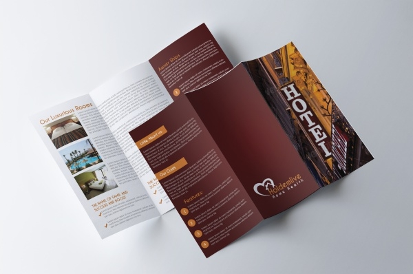 Customizable Hotel Tri-fold Brochure