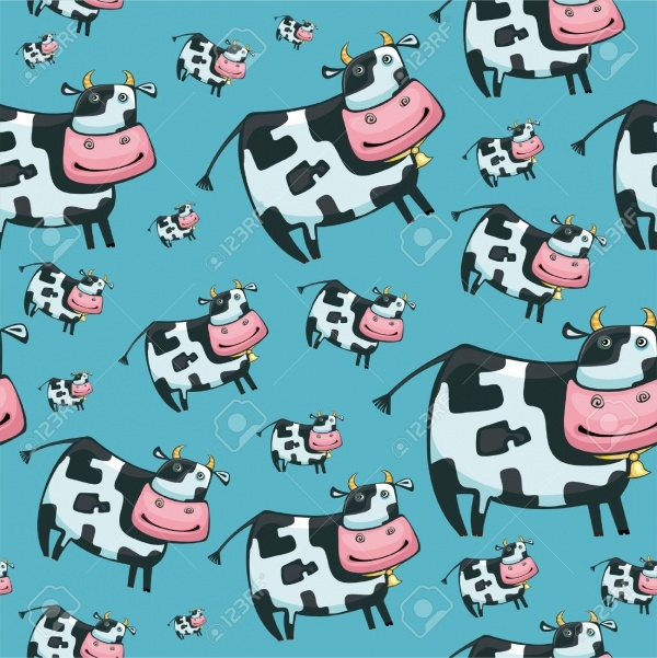 Cute friendly cow pattern.