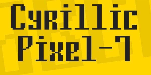 cyrillic pixel font