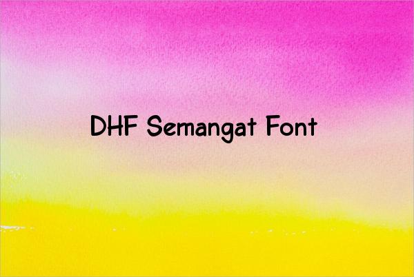 DHF Semangat Font