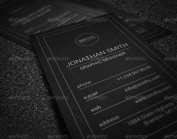Dark Minimalistic Business Card