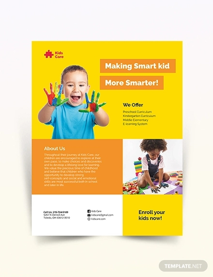 free 31  elegant daycare flyers in ms word