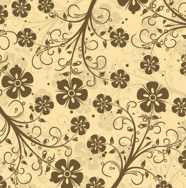 Decorative Floral Vector doodle Pattern
