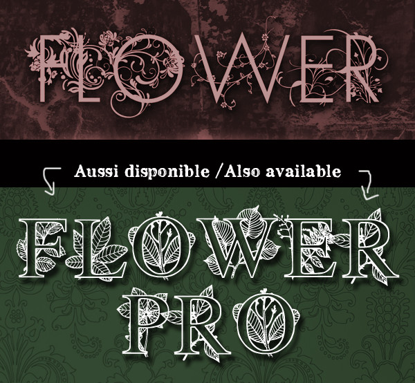 Decorative floral font