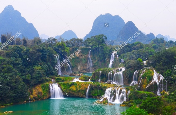 Detian Waterfall in Guangxi Photogrphy