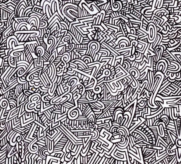 Doodle pen design Pattern