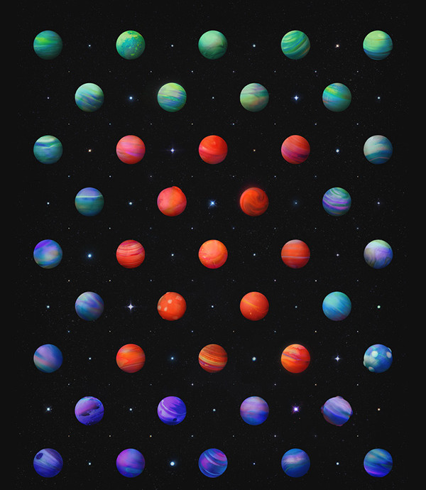 Dot Patterns In Space