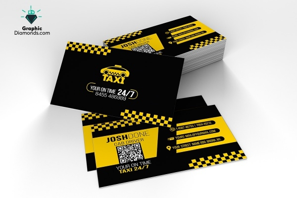 Dowload Taxi Business Card Design