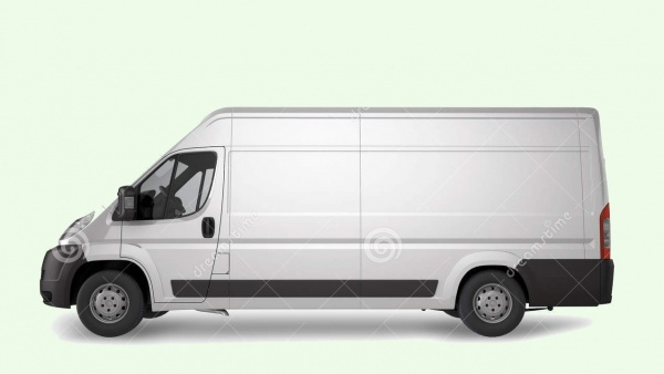 Download Delivery Van Mockup