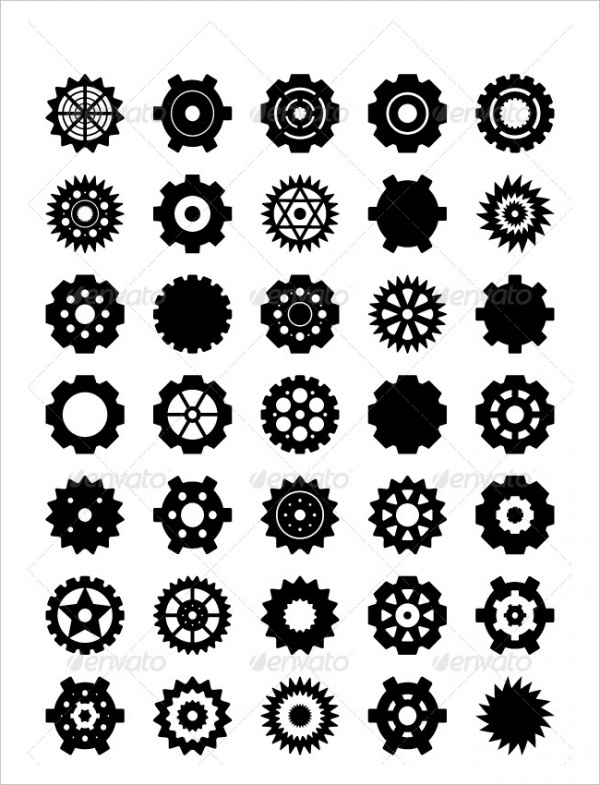 Download Gear Vector set