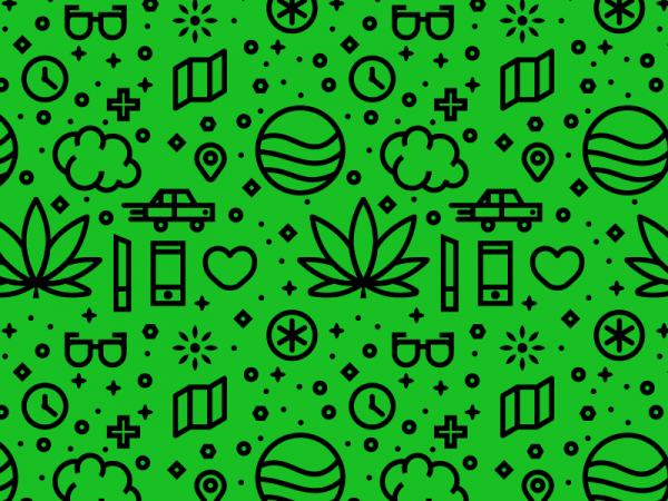 Download weed Pattern Vector