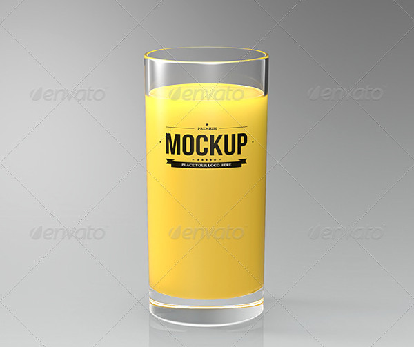 Drinking Glass Mockup