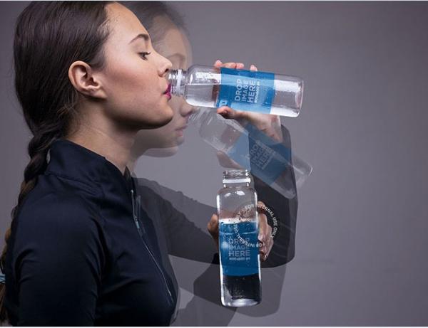 Drinking Water Bottle Photo Mockup