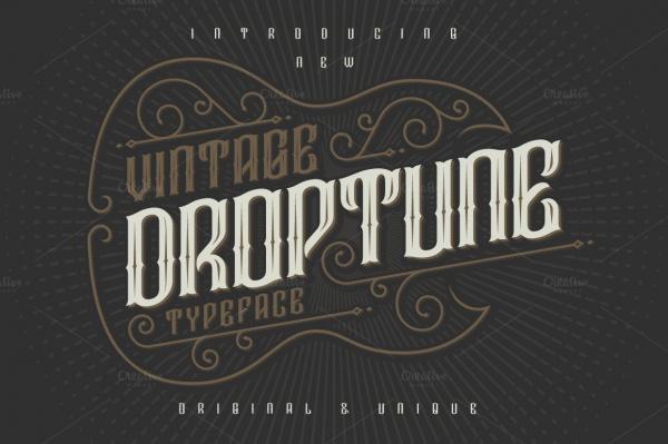 Droptune typeface Font