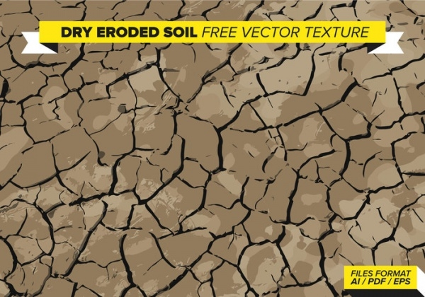 Dry Eroded Soil Free Vector Texture