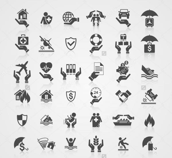 EPS insurance icons