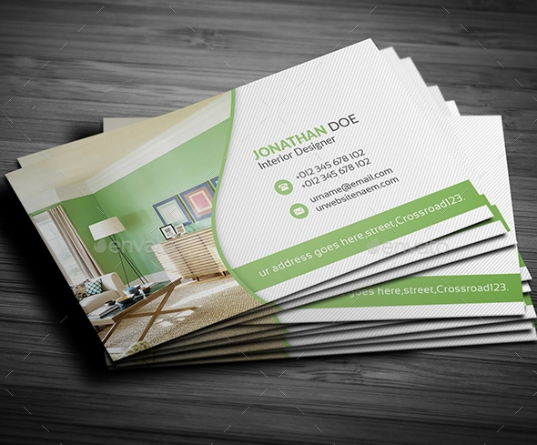 Easy Customizable Interior Design Business Card