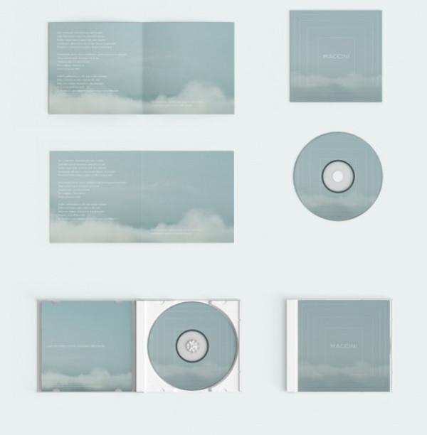 Editable Compact disc Mockup