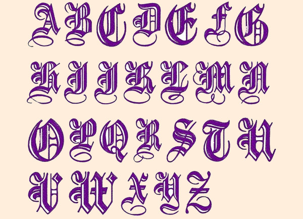 Elegant Alphabet Embroidery Font