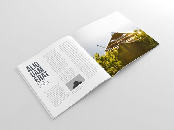Elegant Square Brochure Mockup