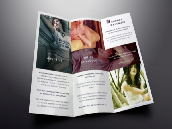 Elegant Tri Fold Brochure Design