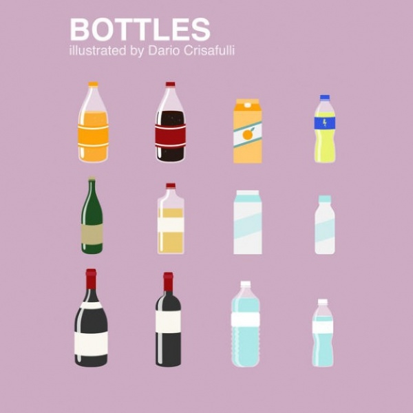 Extraordinary Bottles Vector Set
