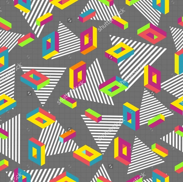 Fabric Design Memphis Pattern