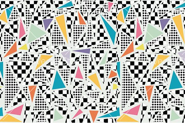 fantastic memphis pattern vector
