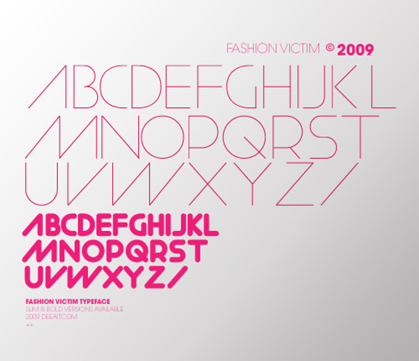 Fashion Victim Typeface font