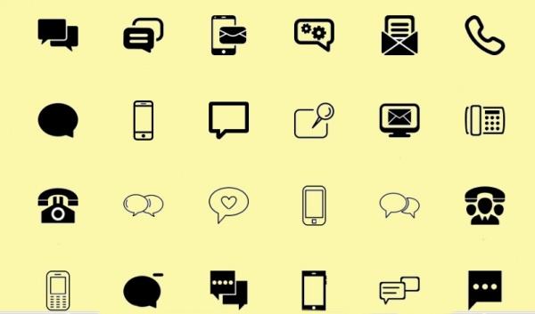 fax communication machine outline free icon