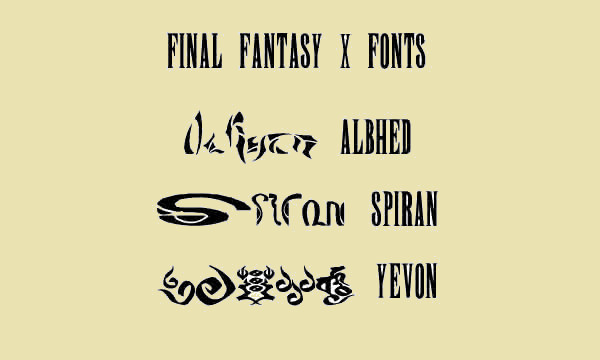 Final Fantasy X Fonts