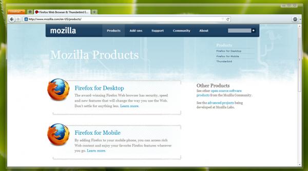 Firefox 4 Mockup Theme