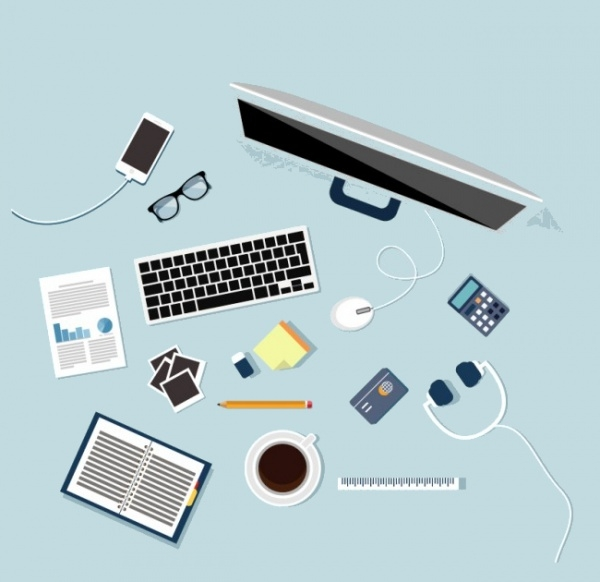 Flat Design Workspace Vector