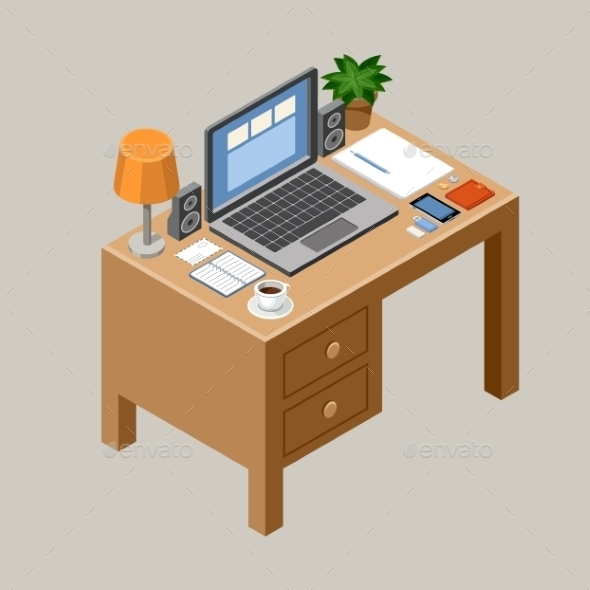 Flat Isometric Workspace Vector