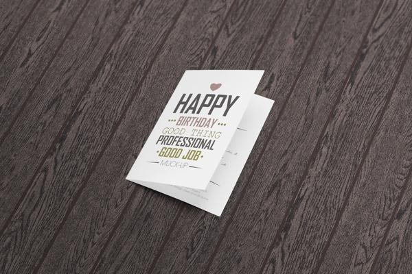 Folded Greeting Card Mockup