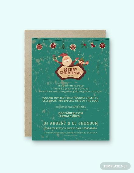 free christmas invitation template