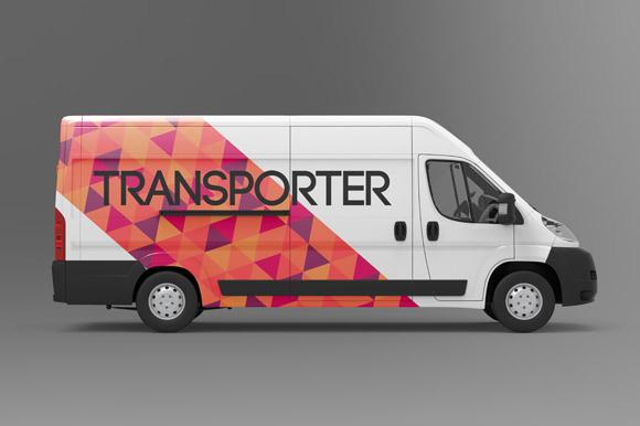 Freight Delivering Van MockUp
