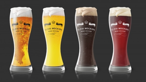 Fresh Beer Glass Mockup