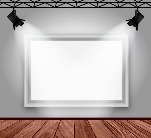 Gallery room interior Mockup