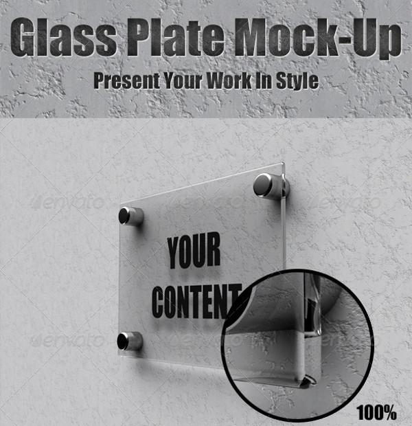 Glass Plate Frame Mockup