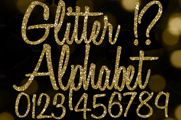 Glitter Lower Case and Upper Case Letters