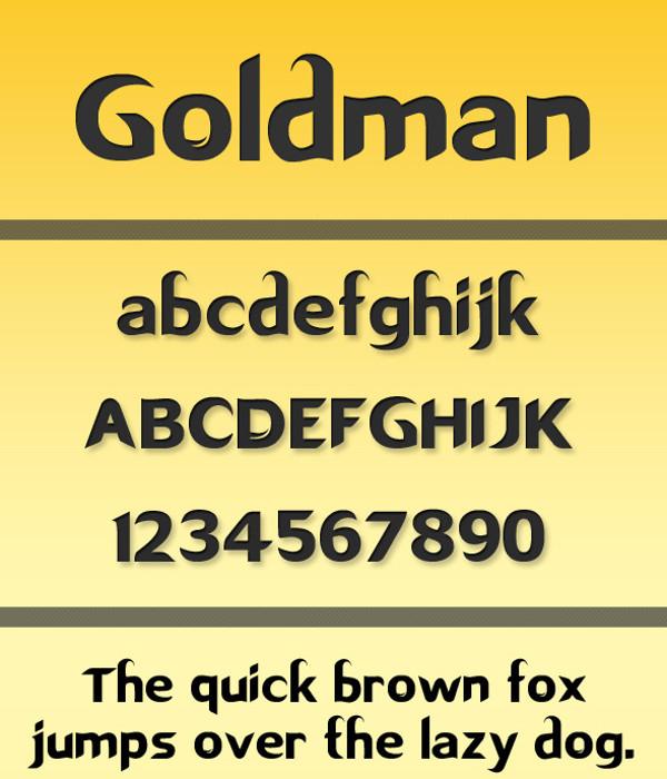 Goldman-Artistic Font
